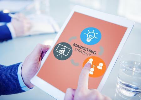 marketing strategy: Marketing Strategy Branding Commercial Advertisement Plan Concept
