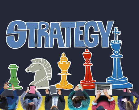 tactics: Strategy Planning Tactics Analysis Communication Concept