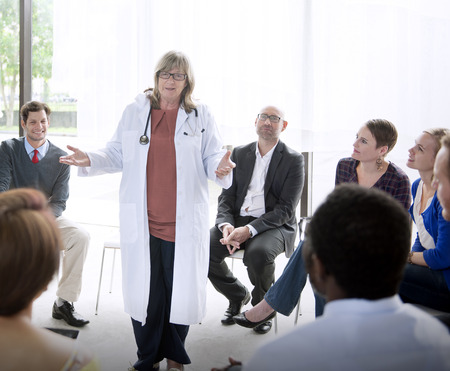 business strategy: Doctor Meeting Teamwork Diagnosis Healthcare Concept Stock Photo