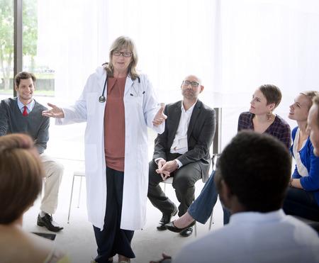 healthcare asian: Doctor Meeting Teamwork Diagnosis Healthcare Concept Stock Photo