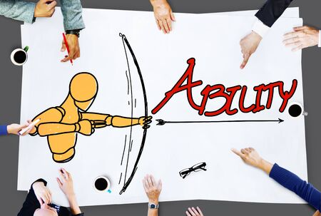 communication capability: Ability Talent Strength Archery Aim Concept