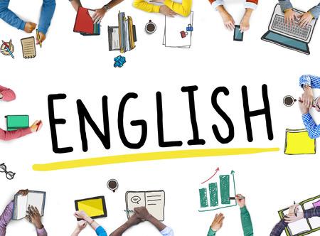 Engels Britse Engeland Taal Onderwijs Concept Stockfoto