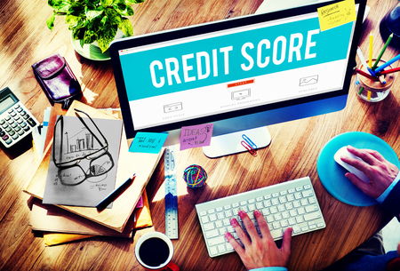 accounting records: Credit Score Financial payment Rating Budget Money Concept