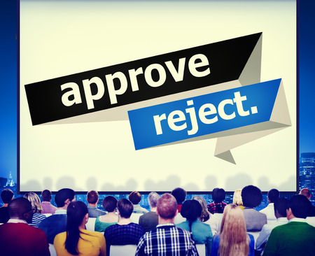 reject: Approve Reject Cancelled Decision Selection Concept