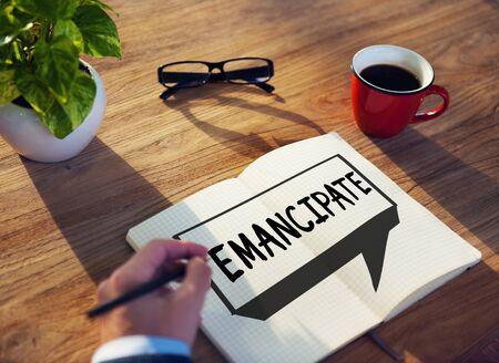 emancipation: Emancipate Emancipated Emancipation Freedom Concept Stock Photo