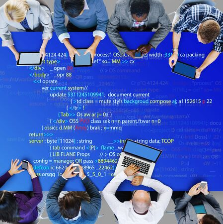 php: Php Programming Html Coding Cyberspace Concept