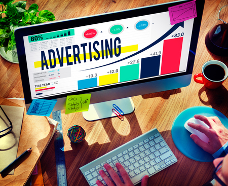browsing the internet: Advertising Advertise Branding Commercial Marketing Concept