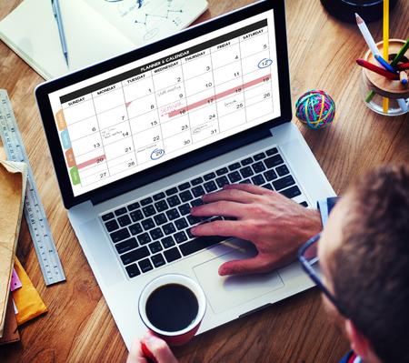 organization: Calender Planner Organization Management Remind Concept