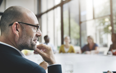 üzlet: Business People Meeting Corporate Csapatmunka Collaboration Concept