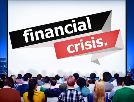 financial crisis: Financial Crisis Setback Downfall Monetary Disaster Economic Debt Inflation Concept Stock Photo