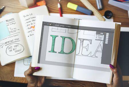editing: Idea Editing Program Application Interface Concept