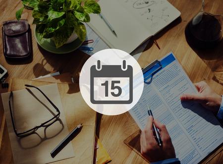 15 months old: Fifteenth Appiontment Memo Schedule Calendar Plan Concept