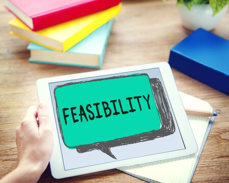 viable: Feasibility Possibility Possible Potential Ideas Concept Stock Photo