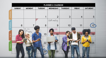 academics: Calender Planner Organization Management Remind Concept