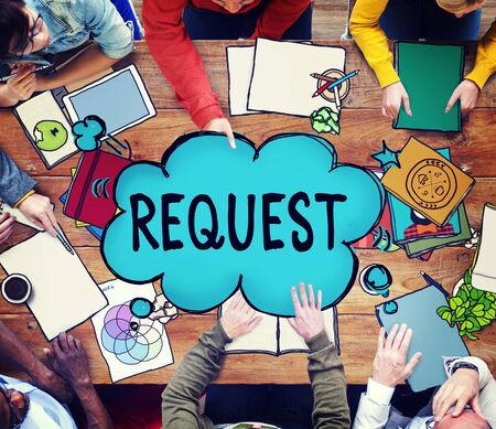 solicit: Request Requirement Desire Order Demand Concept