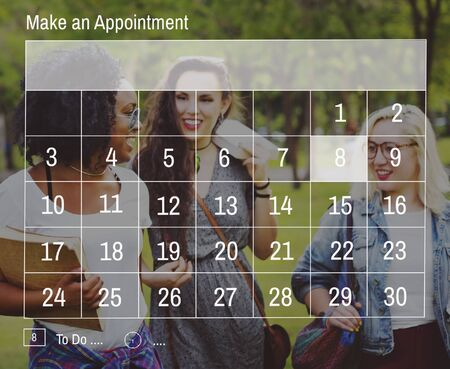 appointment book: Calender Make Appointment Organization Management Concept
