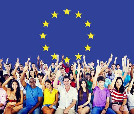 欧州連合国旗国籍文化自由の概念 写真素材