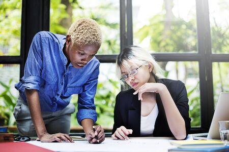colleague: Business Brainstorming Colleague Communication Concept Stock Photo