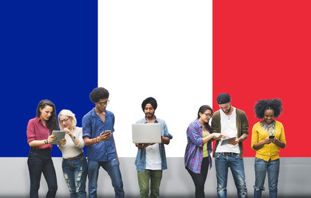 nationality: France Country Flag Nationality Culture Liberty Concept