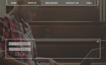 faq's: Contact Us Faqs Member Password Sign-in Homepage Concept