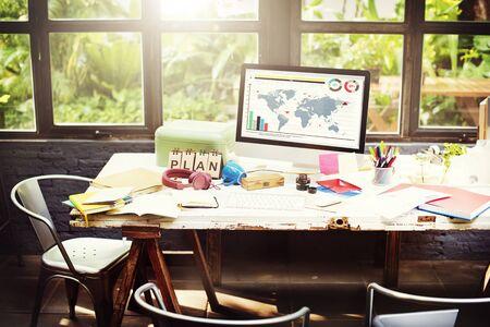 Plan strategie visie Global Business Planning Concept