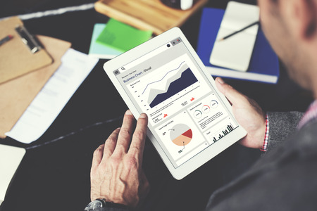 ビジネス グラフ レポート統計企画分析概念 写真素材