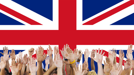 raise the white flag: England Country Flag Nationality Culture Liberty Concept