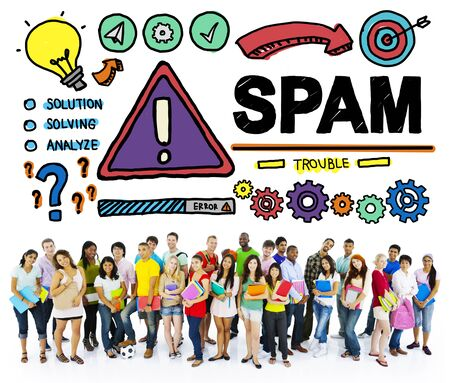 hacking: Spam Problem Virus Online Malware Hacking Concept Stock Photo