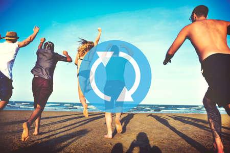 renew: Refresh Renew Icon Cycle Arrow Concept