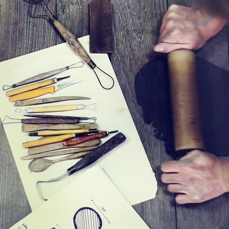 handy: Handy Rolling Clay Craftsman Skill Concept