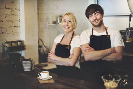 coffee machines: Barista Cafe Making Coffee Preparation Service Concept
