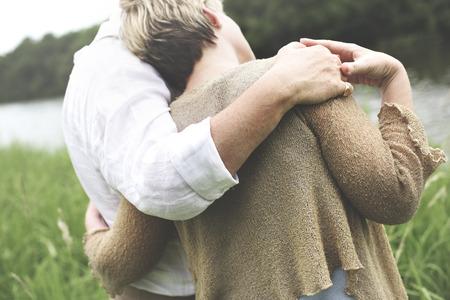 Concepto de amor de pareja, marido, esposa Relajación citas Foto de archivo