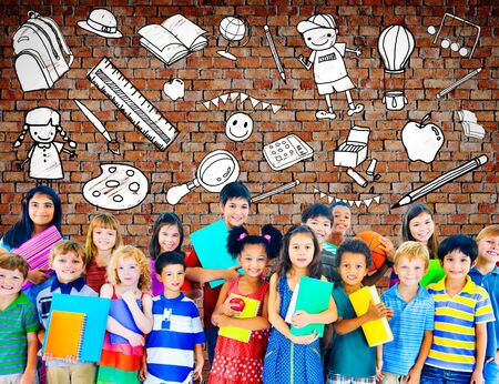 stuff toys: Kids School Education Toys Stuff Young Concept