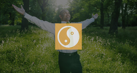 contrast: Yin Yang Balance Contrast Opposite Religion Culture Concept Stock Photo