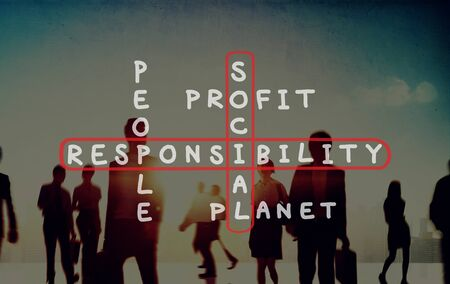business ethics: Social Responsibility Reliability Dependability Ethics Concept
