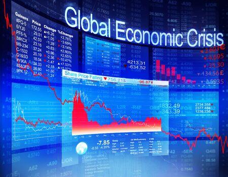 crisis economica: Mercado económica Stock Concepto de Banca crisis económica mundial