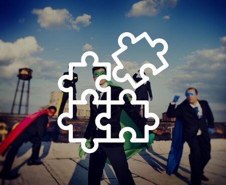 man power: Jigsaw Puzzle Partnership Teamwork Team Concept
