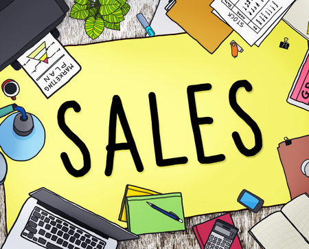 selling: Sales Selling Accounting Income Money Concept