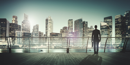 buildings city: Businessman Corporate Cityscape Urban Scene City Building Concept