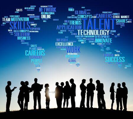 communication capability: Talent Expertise Genius Skills Professional Concept