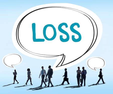 Loss Deduct Recession Debt Finance Bankruptcy Cocept
