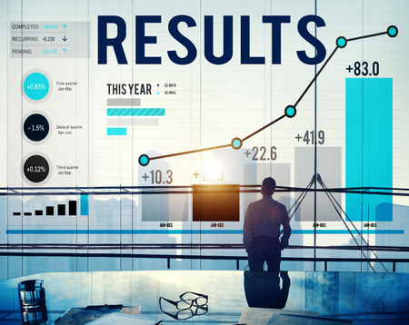 evaluation: Results Effect Achievement Assessment Evaluate Concept Stock Photo