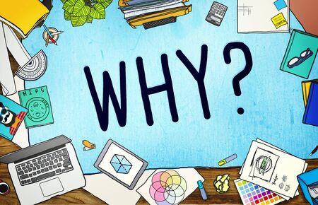 Waarom vraag Reden Nieuwsgierig Confuse Concept Stockfoto