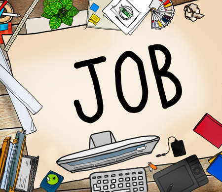 printer drawing: Job Career Occupation Working Concept