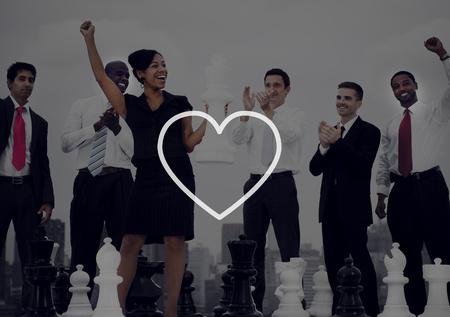 happy business team: Love Like Passion Romantic Affection Devotion Joy Life Concept