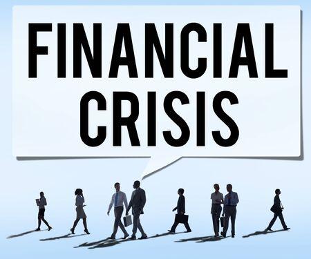 financial crisis: Financial Crisis Bankruptcy Depression Finance Concept