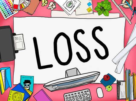 finance concept: Loss Risk Debt Economy Finance Concept