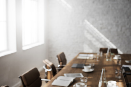sala de reuniones: Reunión de la Junta Tabla Sala Oficina Concepto