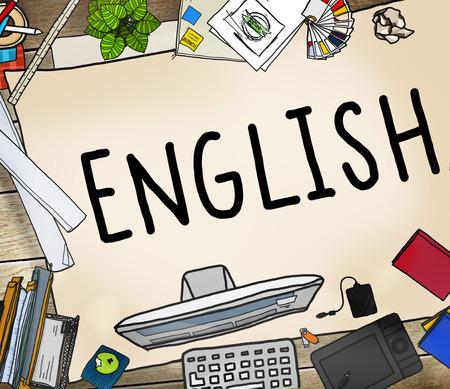 office stuff: English British England Language Education Concept