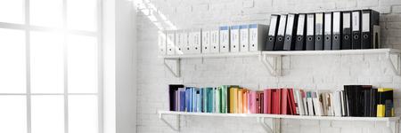 Habitación contemporánea del lugar de trabajo de oficina Concepto Foto de archivo